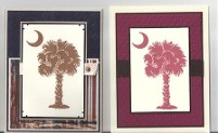 Carolina & Bronze Palm by Terri Davis