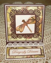 Dragonfly Easel Card by Christine