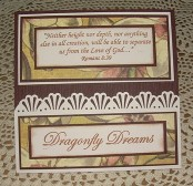 Dragonfly Easel Card inside by Christine