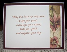 May your life be inside card by Christine